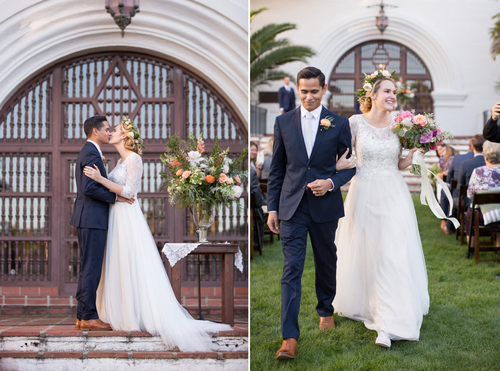 www.santabarbarawedding.com | Anna J Photography | Santa Barbara Courthouse | Ceremony | Bride and Groom