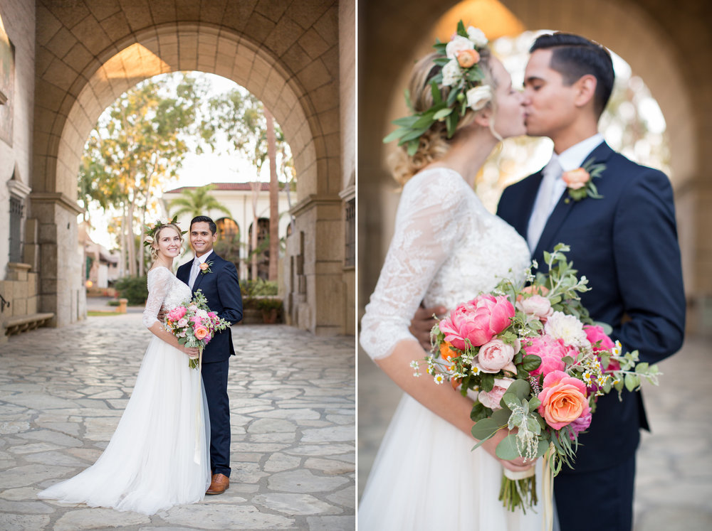 www.santabarbarawedding.com | Anna J Photography | Santa Barbara Courthouse | Bride and Groom | Ella & Louie