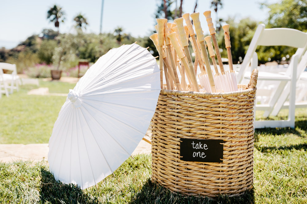 www.santabarbarawedding.com | Rewind Photography | Condor Ridge Ranch | Umbrellas | Ceremony