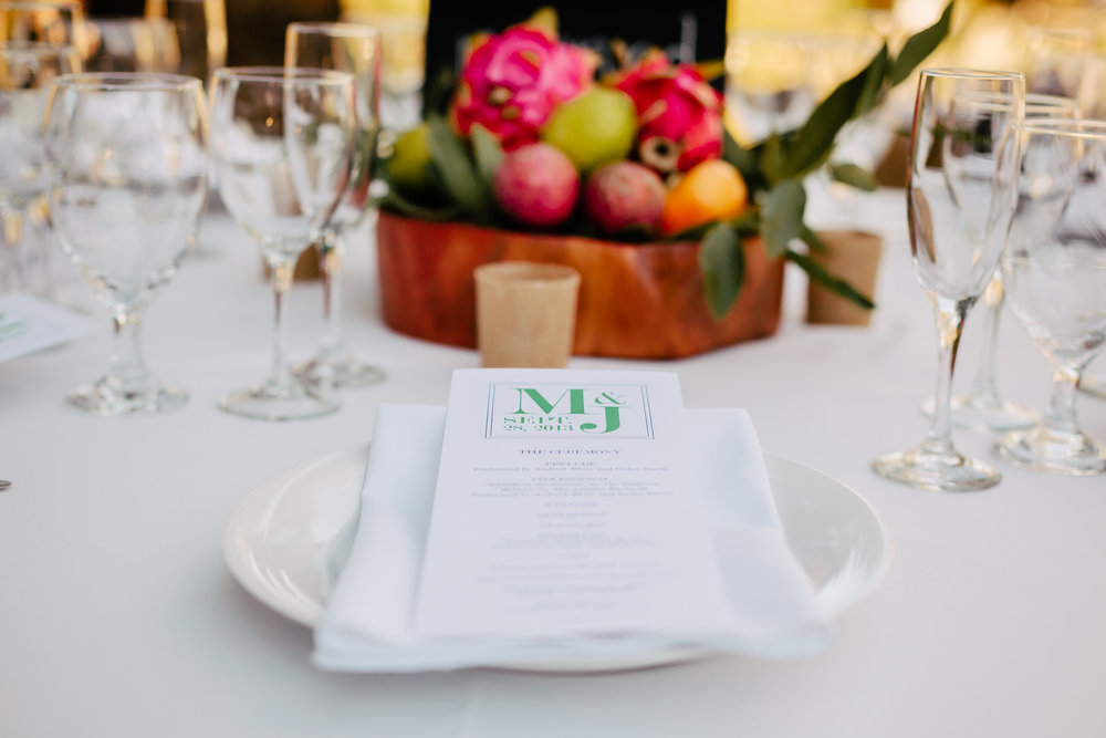 www.santabarbarawedding.com | Rewind Photography | Condor Ridge Ranch | Reception Table Place Setting