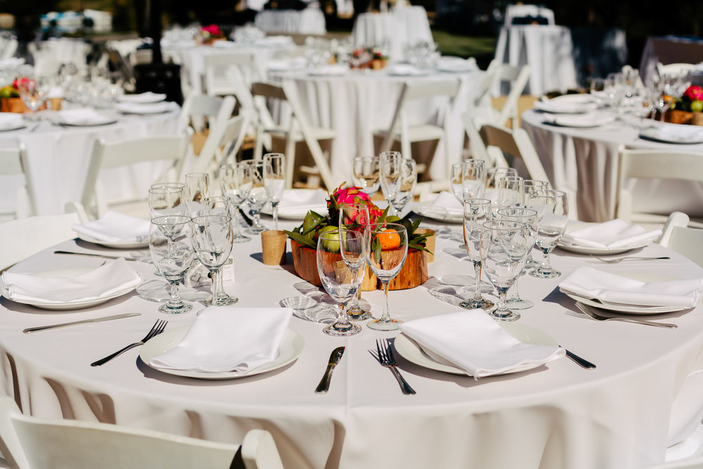 www.santabarbarawedding.com | Rewind Photography | Condor Ridge Ranch | Reception Table