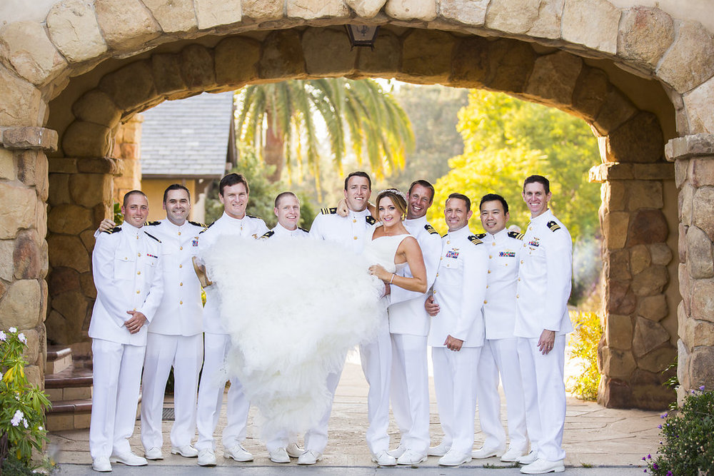 www.santabarbarawedding.com | Heartstone Ranch | Anna Schmidt Photography | Groomsmen and Bride