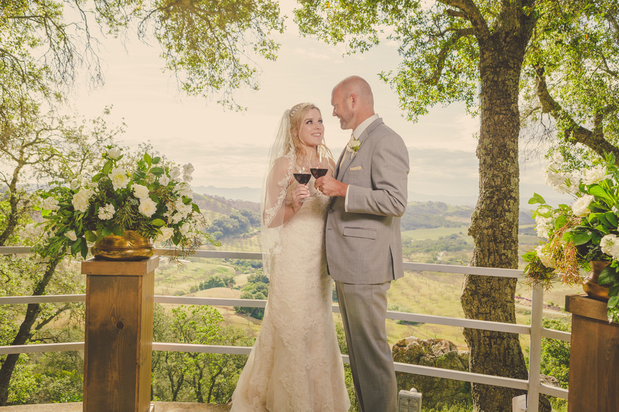 www.santabarbarawedding.com | Kramer Events | Adelaida Cellars | Bride and Groom | toast