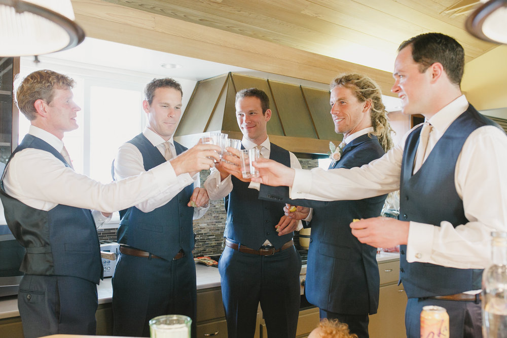 www.santabarbarawedding.com | Kristen Booth Photography | Rincon Beach Club | Groomsmen Toast