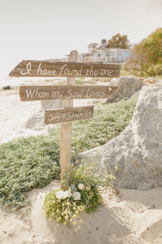 www.santabarbarawedding.com | Kristen Booth Photography | Rincon Beach Club | Ceremony Signs