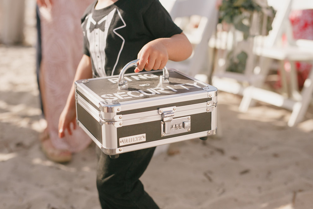 www.santabarbarawedding.com | Kristen Booth Photography | Rincon Beach Club | Ring Bearer