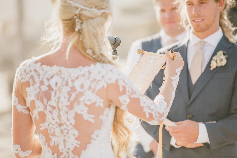 www.santabarbarawedding.com | Kristen Booth Photography | Rincon Beach Club | Ceremony | Vows