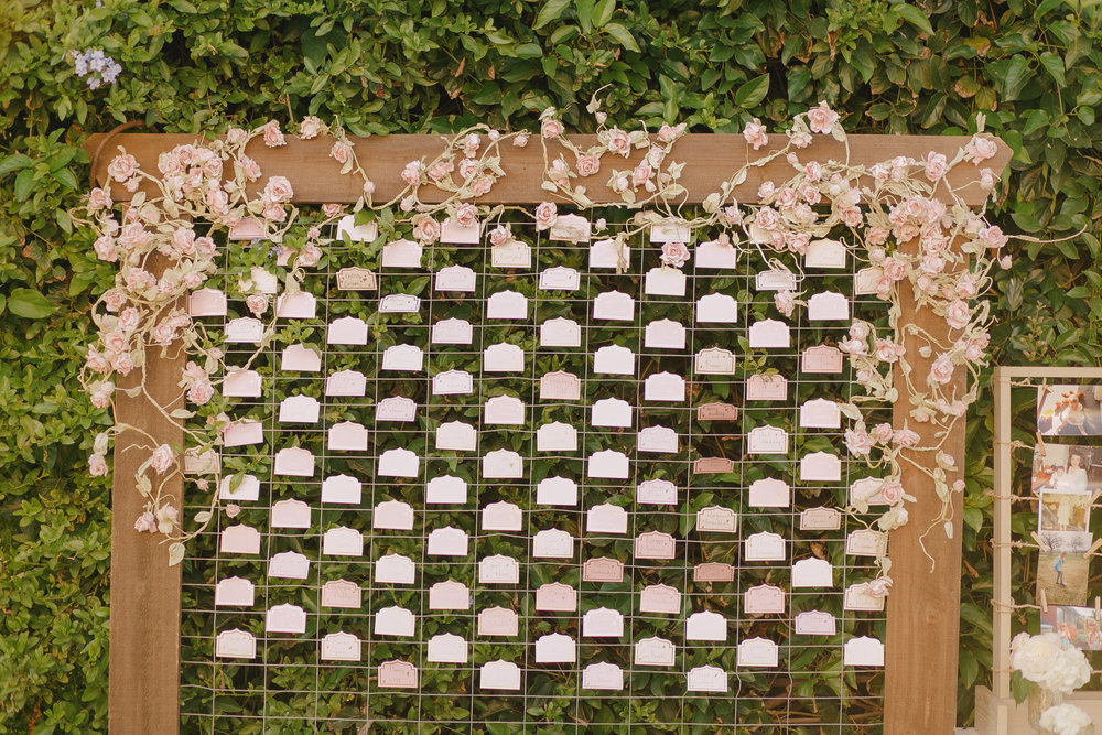 www.santabarbarawedding.com | Kristen Booth Photography | Rincon Beach Club | Escort Cards