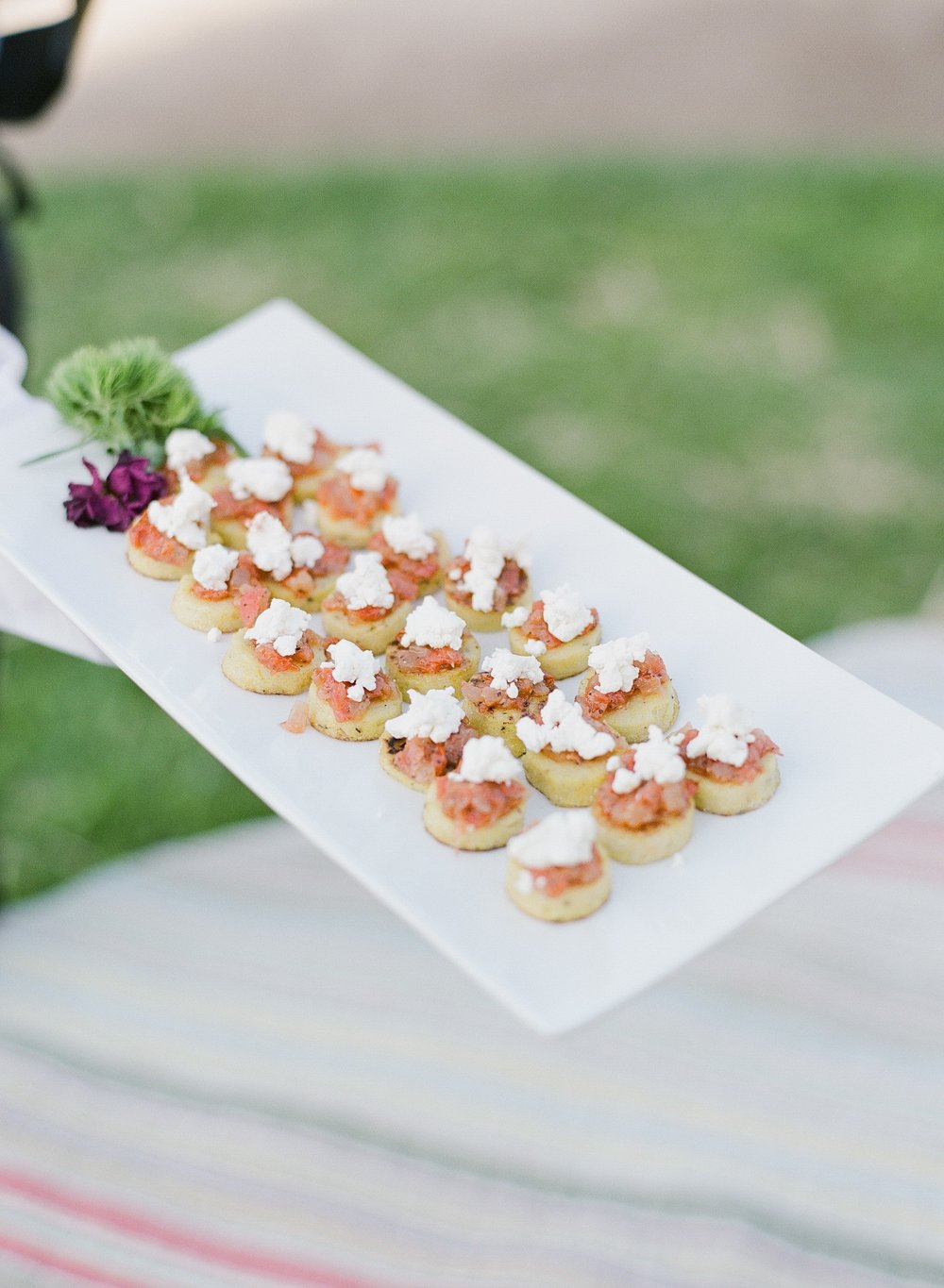 www.santabarbarawedding.com | hors d'ouvres | appetizer tips | Catering Connection | passed appetizer | wedding menu