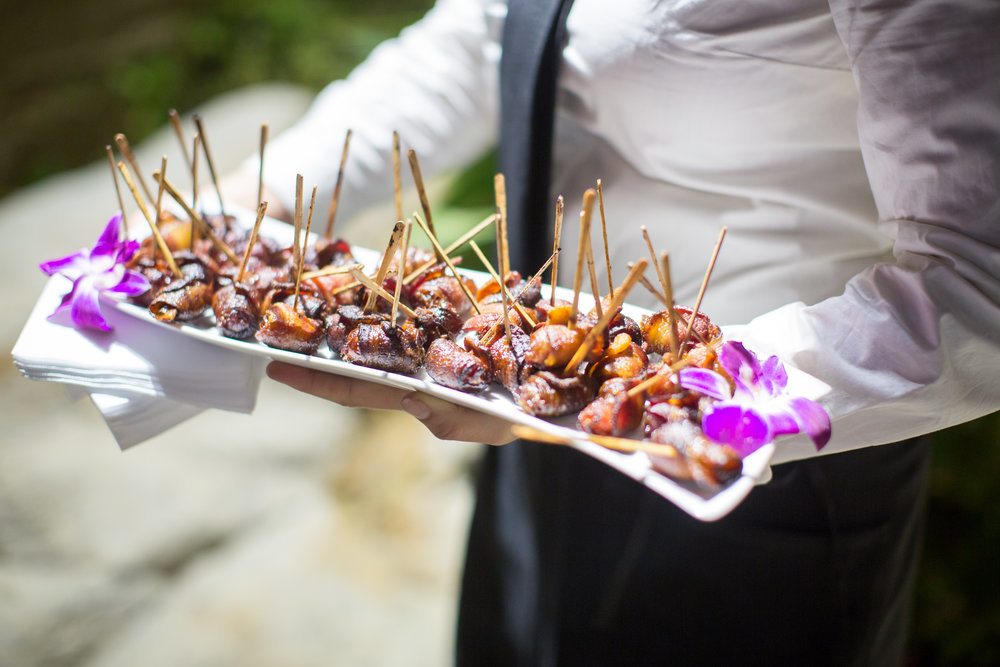 www.santabarbarawedding.com | hors d'ouvres | appetizer tips | Catering connection | fig pig | wedding menu | Kiel Rucker Photography