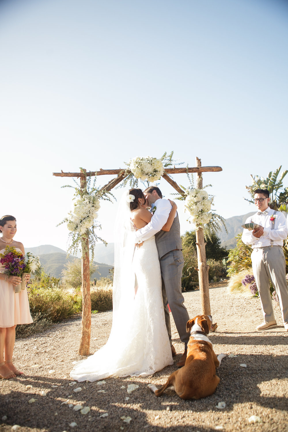 www.santabarbarawedding.com | Andrejka Photography | Red Tail Ranch | Bride and Groom | Ceremony