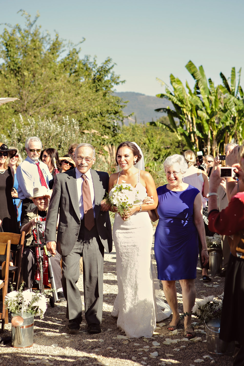www.santabarbarawedding.com | Andrejka Photography | Red Tail Ranch | Ceremony | Bride walking down Aisle