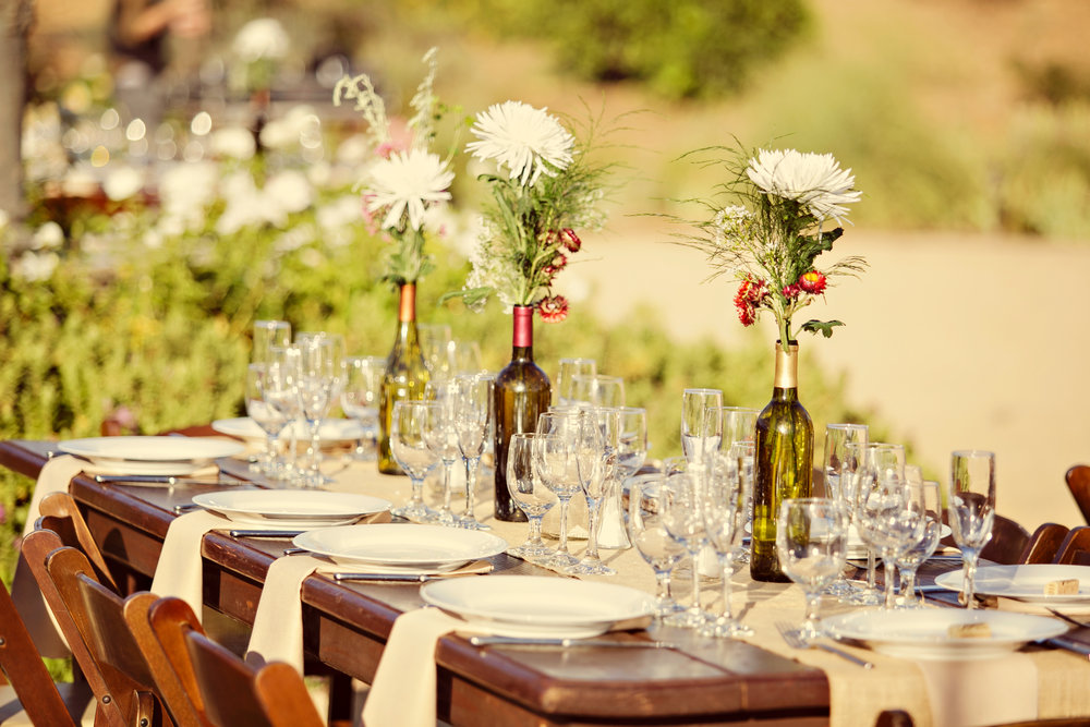 www.santabarbarawedding.com | Andrejka Photography | Red Tail Ranch | Reception Tables