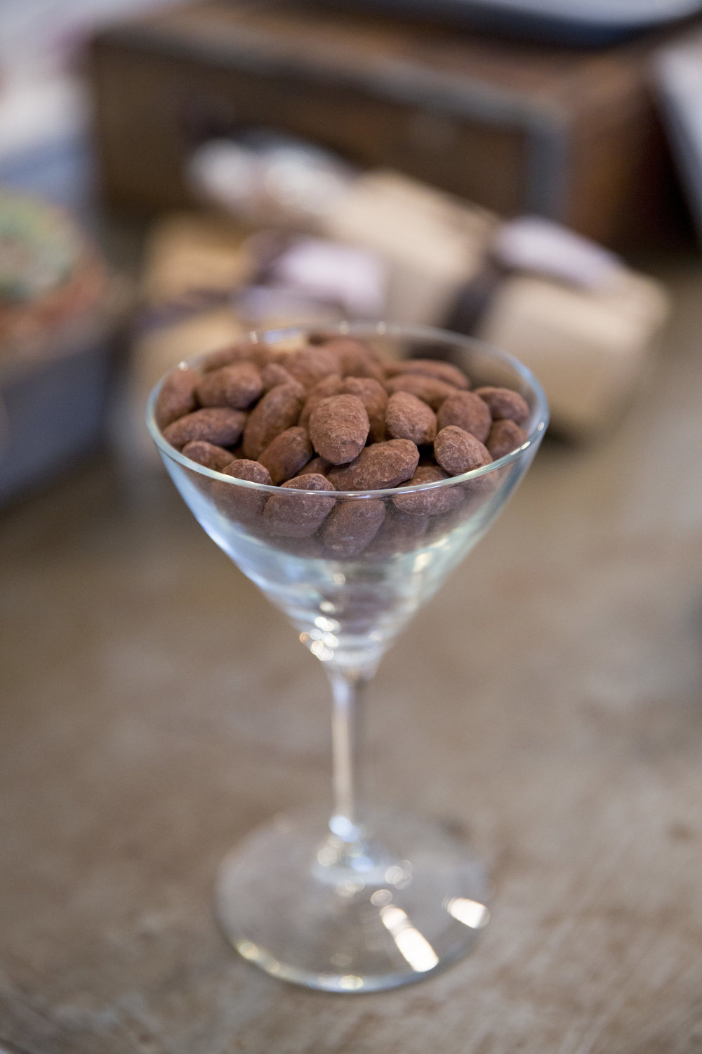 www.santabarbarawedding | Jessica Foster Confections | Dessert Bar | Chocolate Almonds | Kristen Beinke Photography