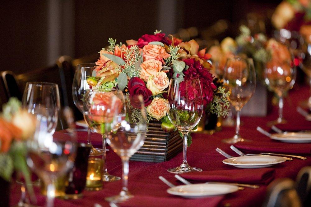 www.santabarbarawedding.com | opal restaurant and bar | reception location | wedding venue | rehearsal dinner | Restaurant table set up