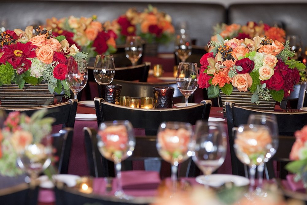 www.santabarbarawedding.com | opal restaurant and bar | reception location | wedding venue | rehearsal dinner | Restaurant | kaleidoscope flowers