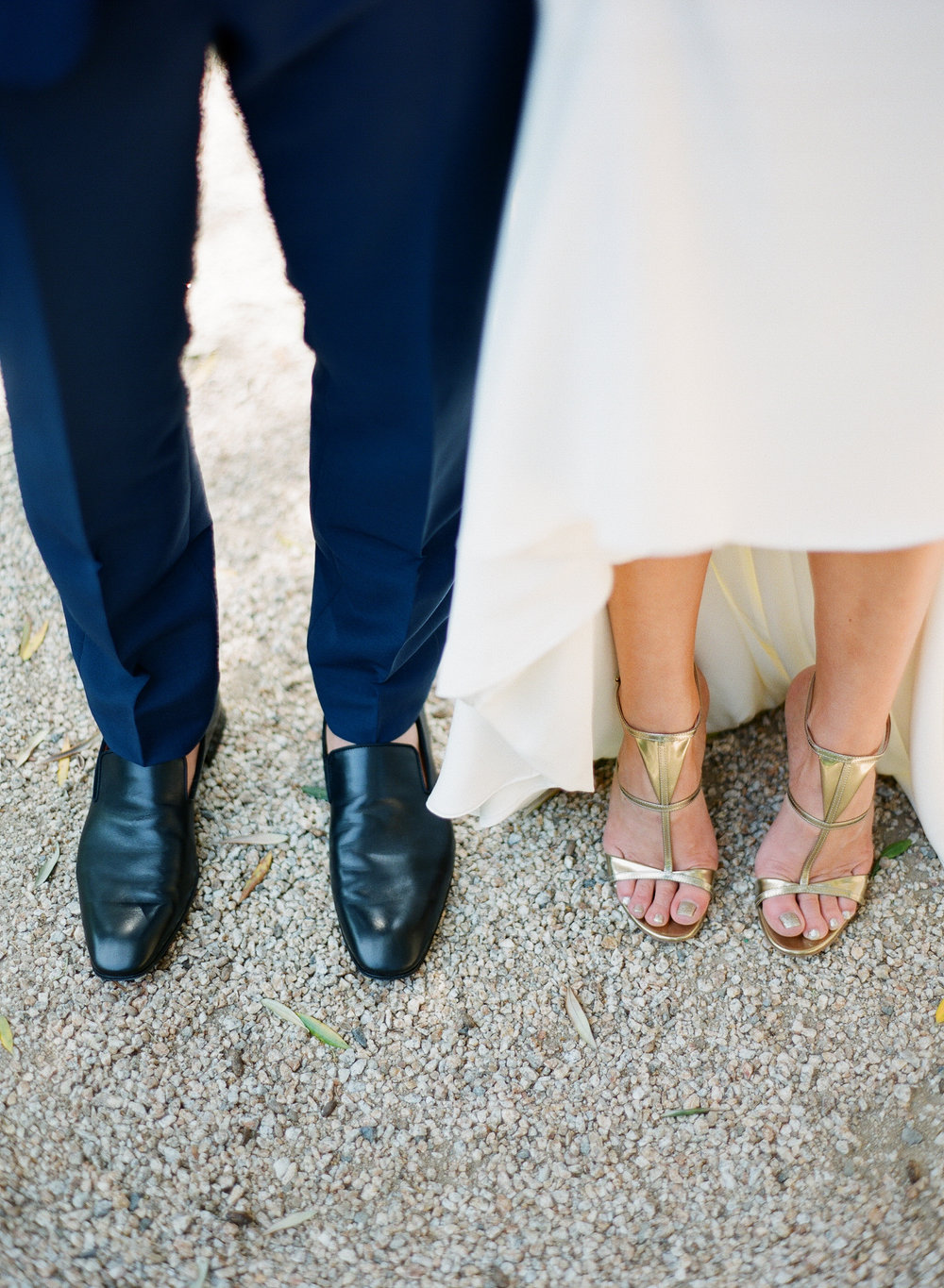 www.santabarbarawedding.com | Michelle Beller Photography | Ojai Valley Inn | Bride and Groom Shoes