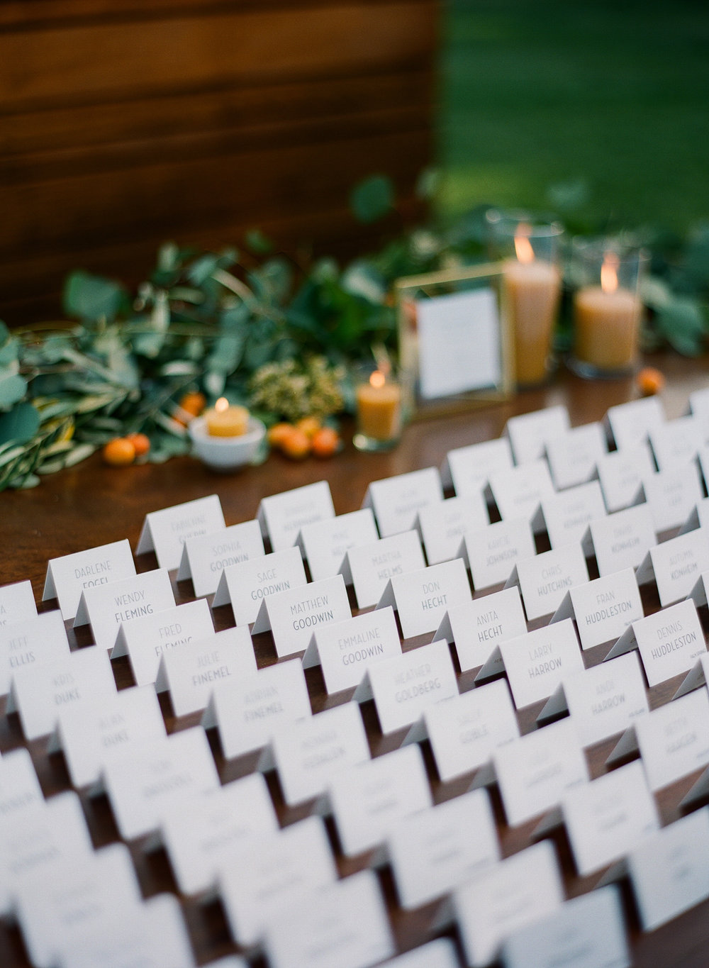 www.santabarbarawedding.com | Michelle Beller Photography | Ojai Valley Inn | Escort Cards