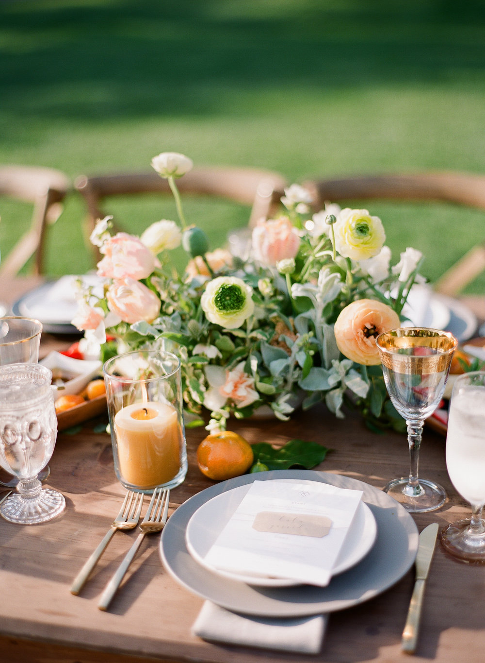 www.santabarbarawedding.com | Michelle Beller Photography | Ojai Valley Inn | Reception Table