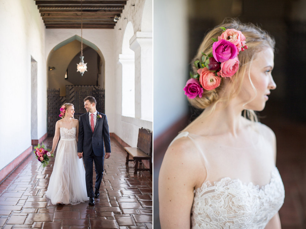 www.santabarbarawedding.com | Anna J Photography | Ella & Louie | Santa Barbara Courthouse | Bride and Groom