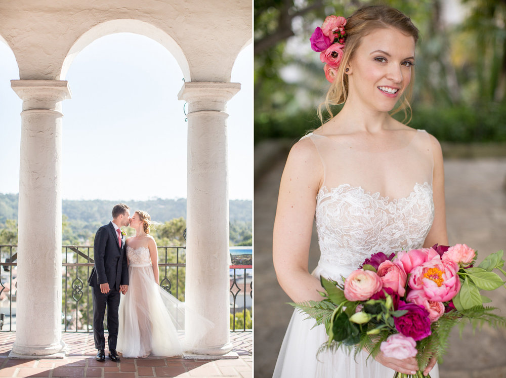 www.santabarbarawedding.com | Anna J Photography | Ella & Louie | Santa Barbara Courthouse | Bride
