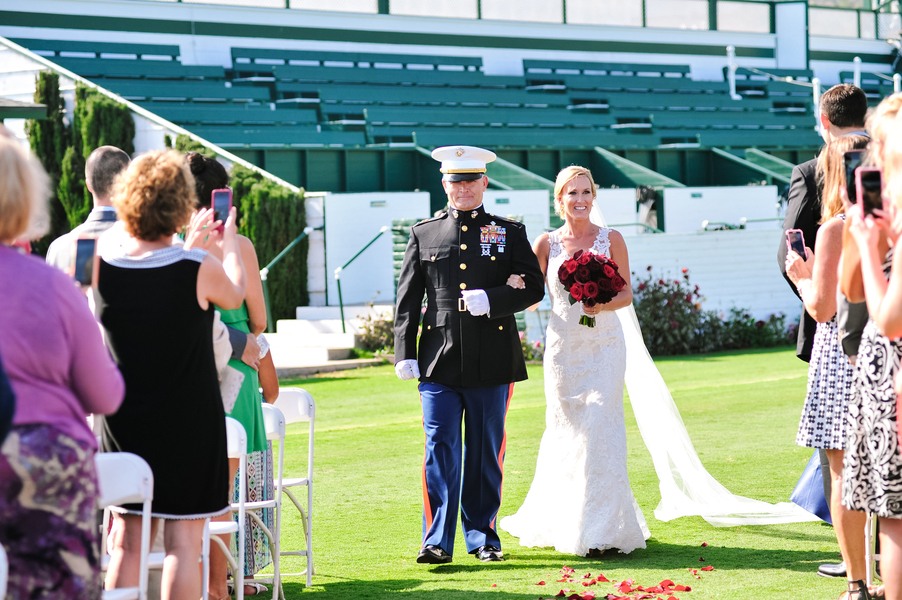 www.santabarbarawedding.com | SB Polo and Racquet Club | By Cherry Photography | Father and Bride