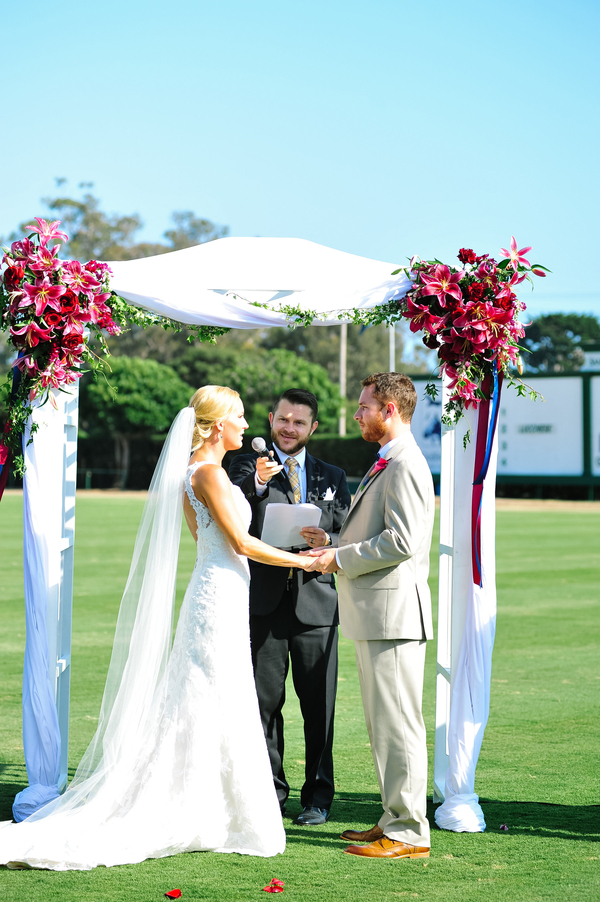 www.santabarbarawedding.com | SB Polo and Racquet Club | By Cherry Photography | Ceremony | Vows