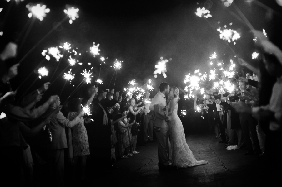 www.santabarbarawedding.com | SB Polo and Racquet Club | By Cherry Photography | Sparklers Exit
