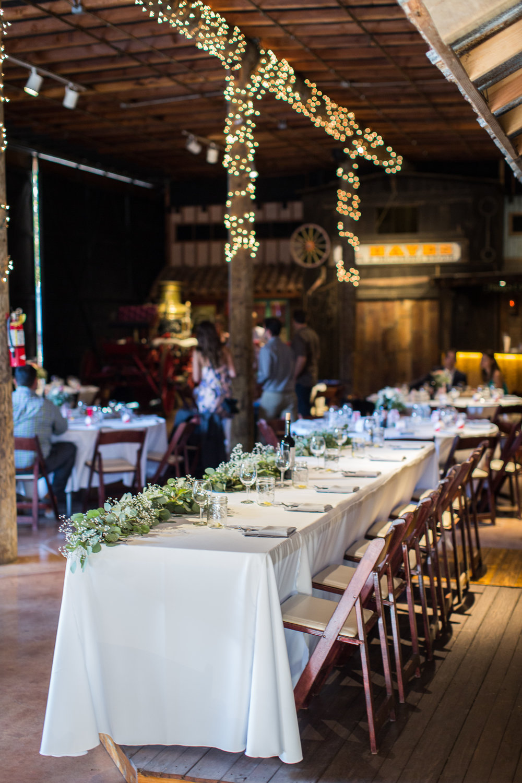 www.santabarbarawedding.com | Carriage Museum | Kiel Rucker Photography | Reception Table