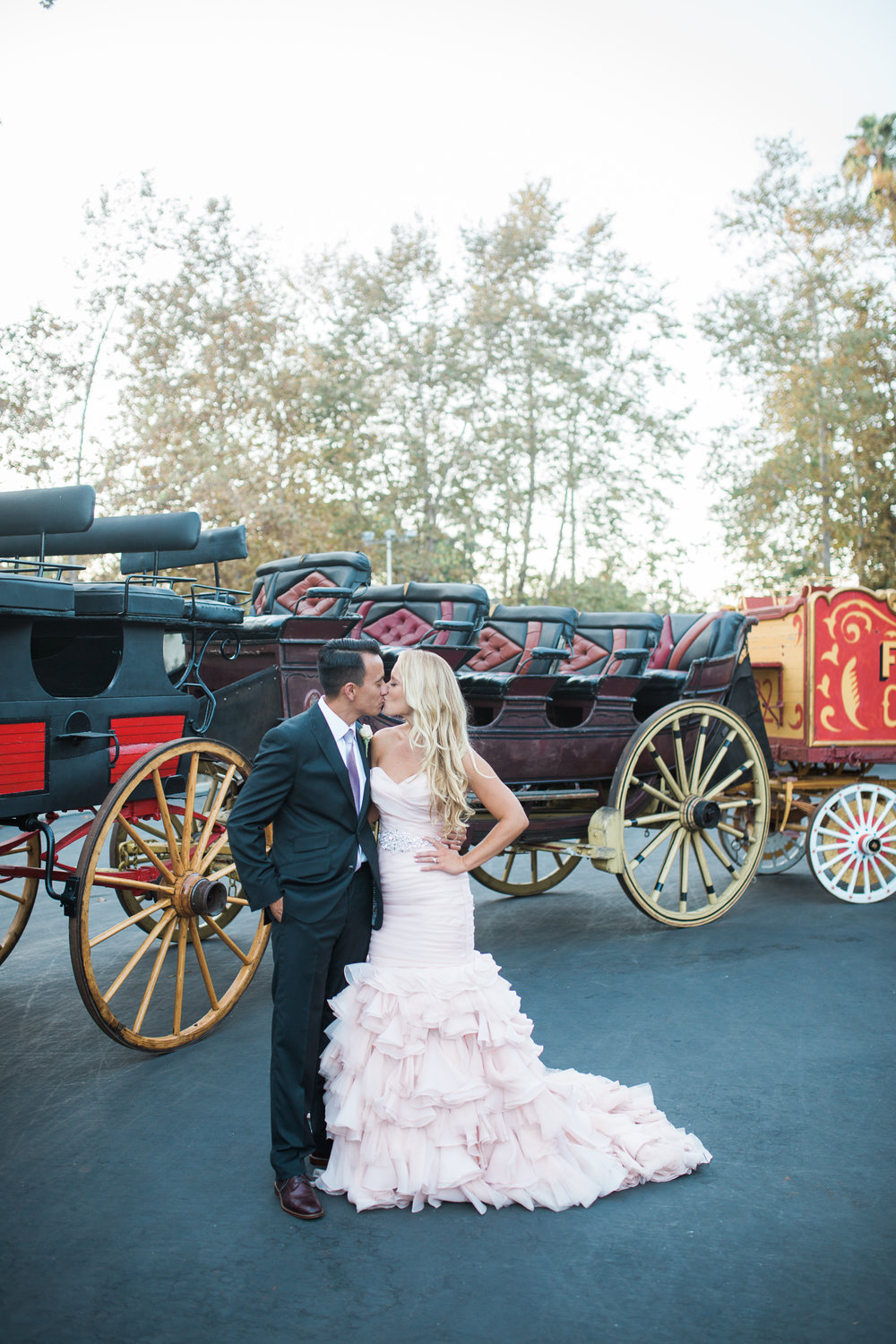 www.santabarbarawedding.com | Carriage Museum | Kiel Rucker Photography | Carriages | Bride and Groom
