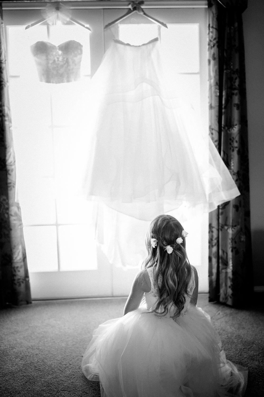 www.santabarbarawedding.com | Kelsey Crews Photography | Wedding Dress and Flower Girl
