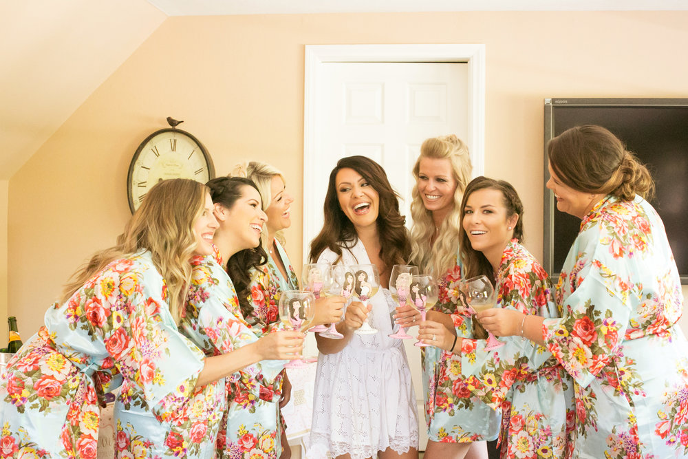 www.santabarbarawedding.com | Kelsey Crews Photography | Bridesmaids | Toast