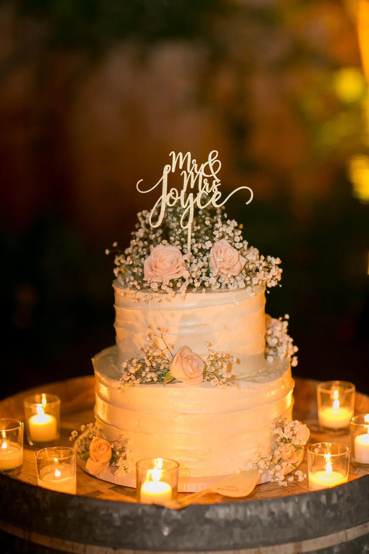 www.santabarbarawedding.com | Kelsey Crews Photography | Wedding Cake