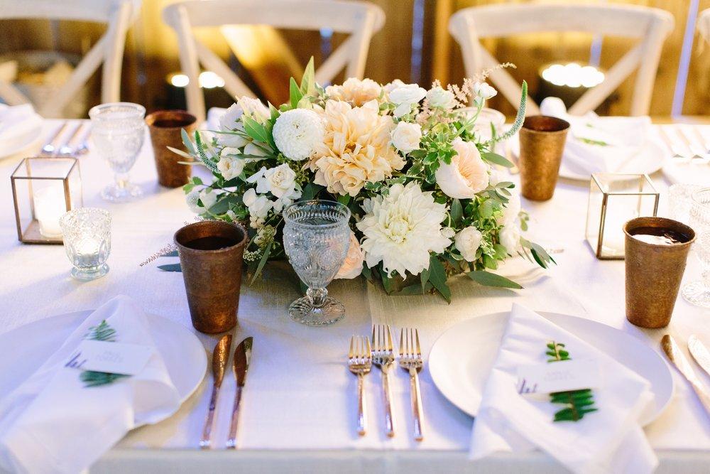 www.santabarbarawedding.com | Dos Pueblos Ranch | Birds of a Feather | Reception Table