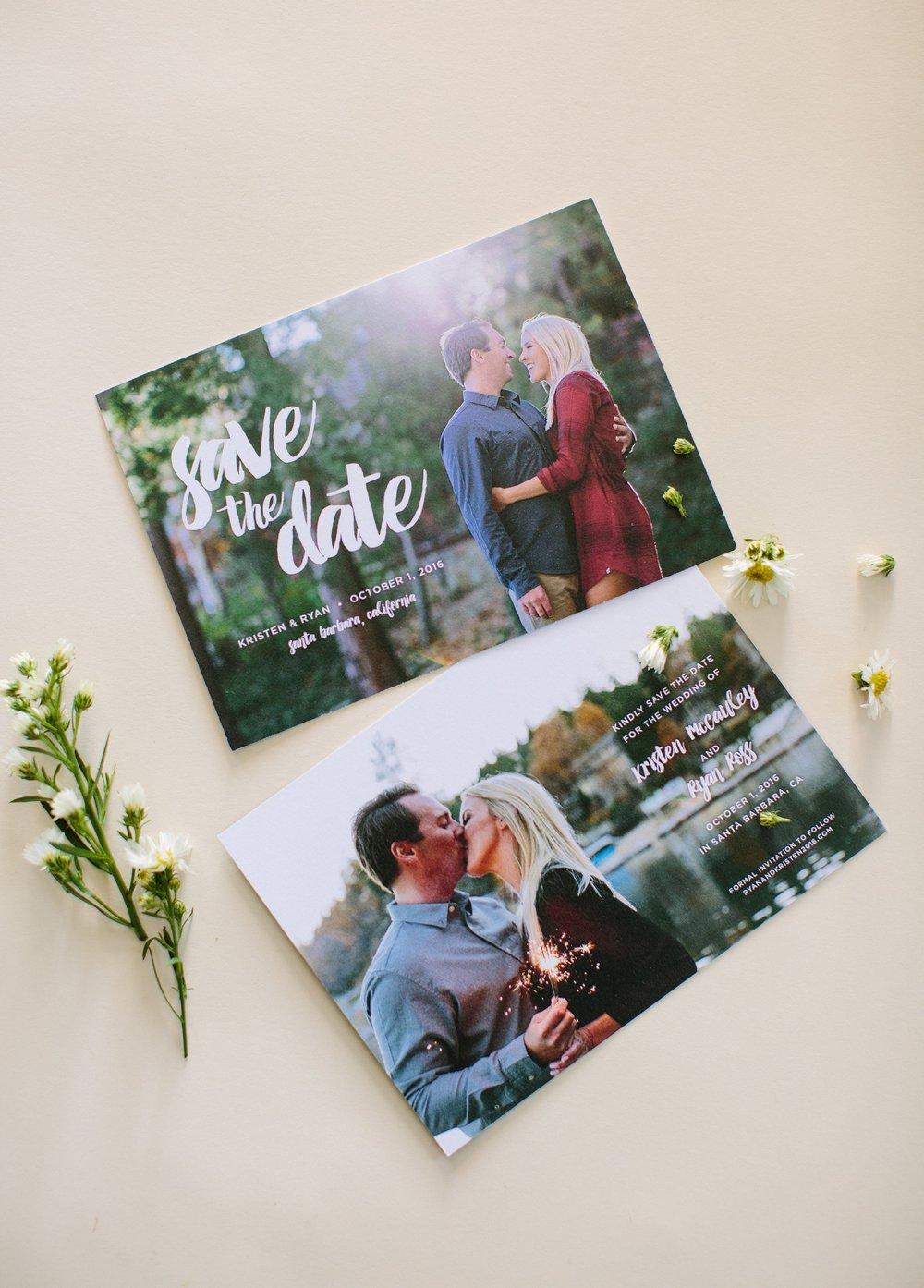 www.santabarbarawedding.com | Dos Pueblos Ranch | Birds of a Feather | Wedding Invitations