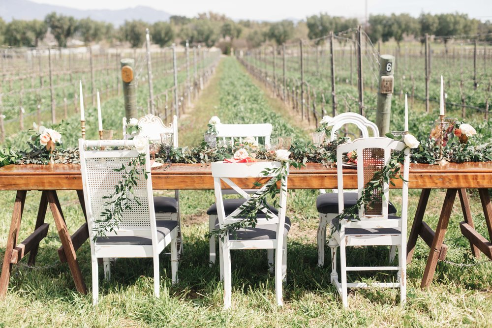 www.santabarbarawedding.com | Molly + Co | Sogno Del Fiore | Reception Table