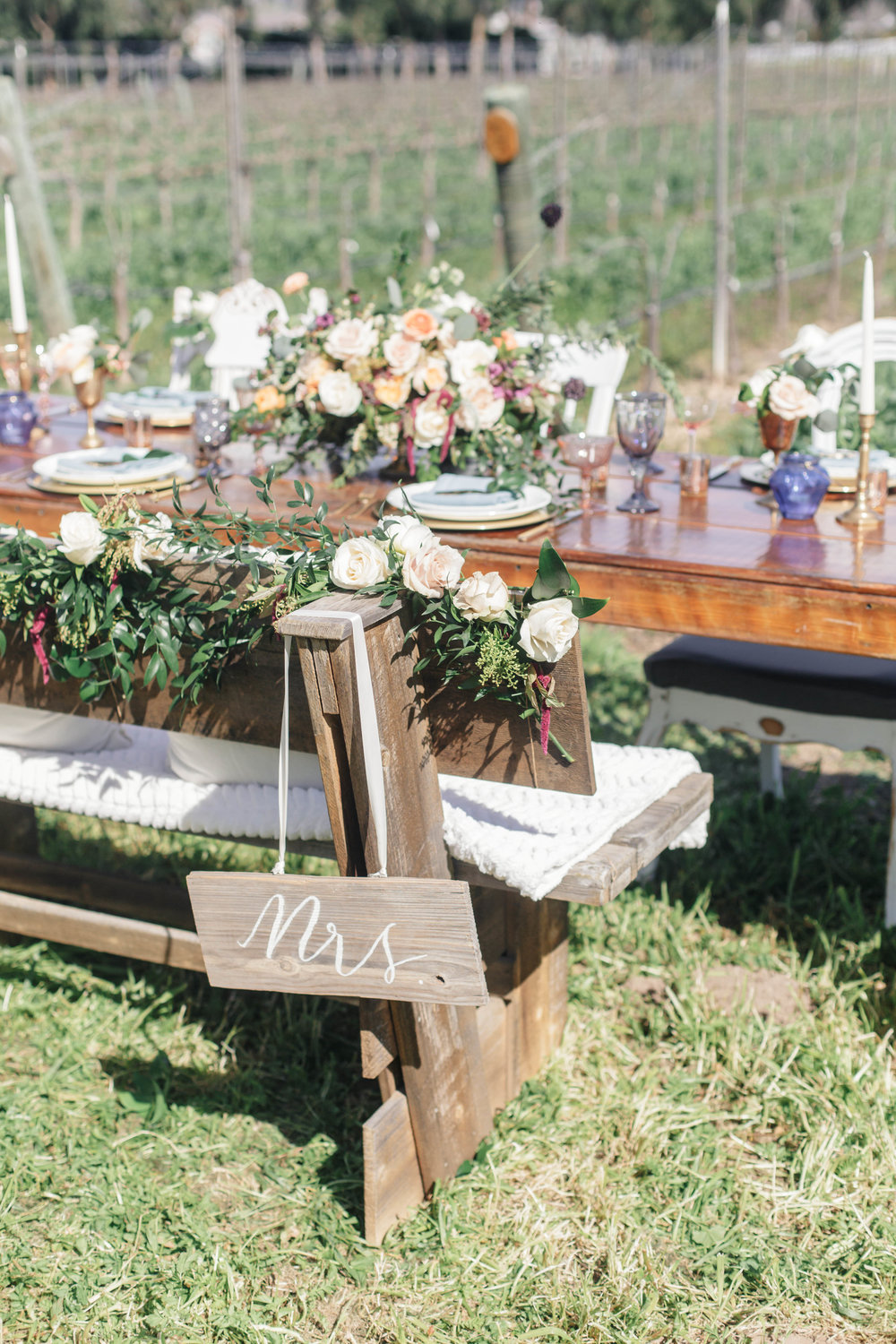 www.santabarbarawedding.com | Molly + Co | Sogno Del Fiore | Reception Table Details