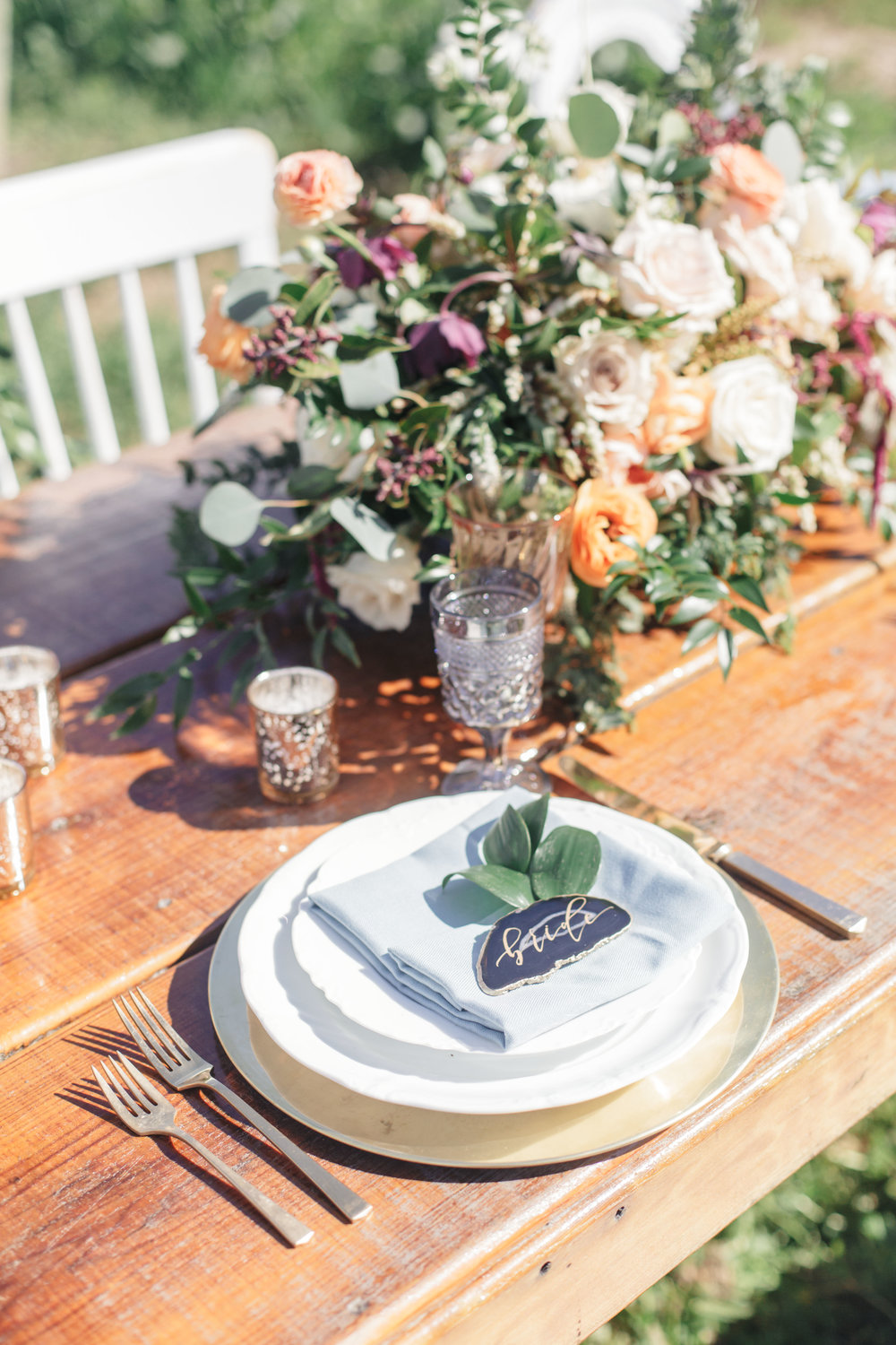 www.santabarbarawedding.com | Molly + Co | Sogno Del Fiore | Place Setting