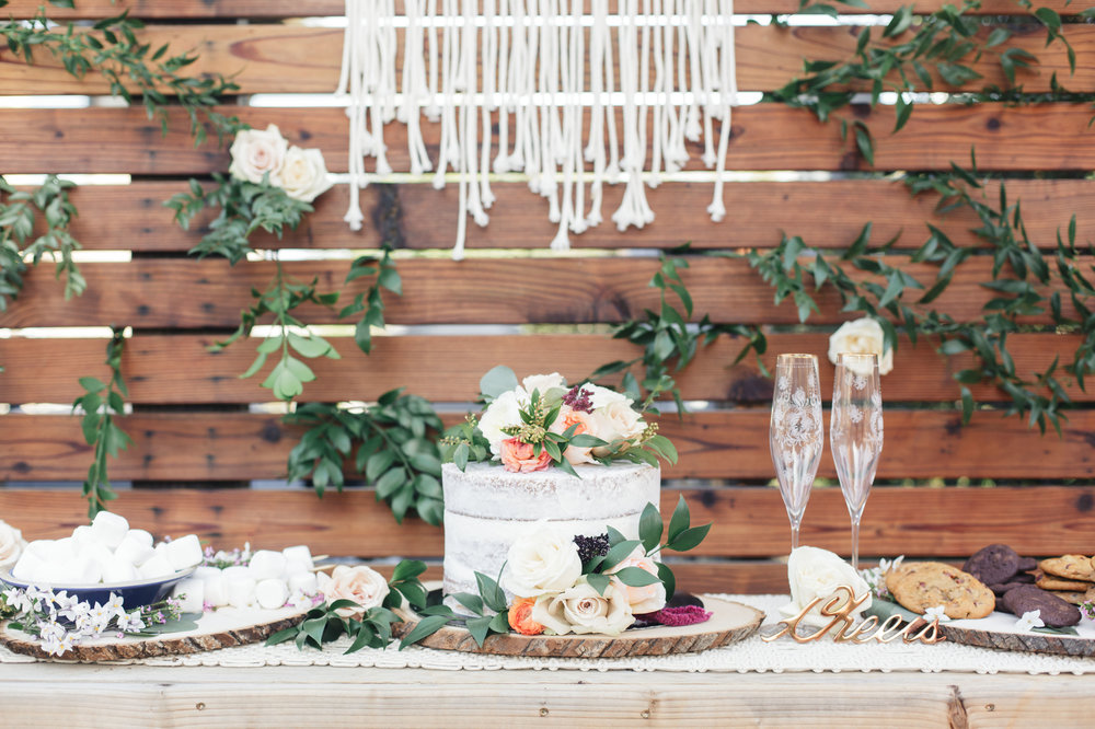 www.santabarbarawedding.com | Molly + Co | Sogno Del Fiore | Wedding Cake