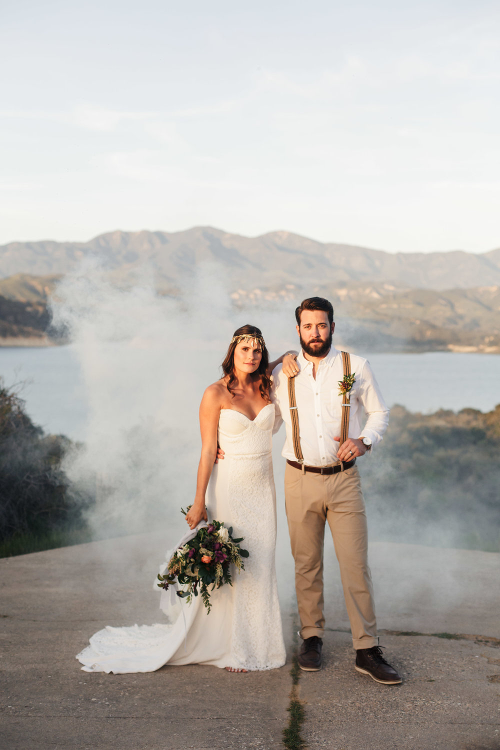 www.santabarbarawedding.com | Molly + Co | Sogno Del Fiore | Bride and Groom