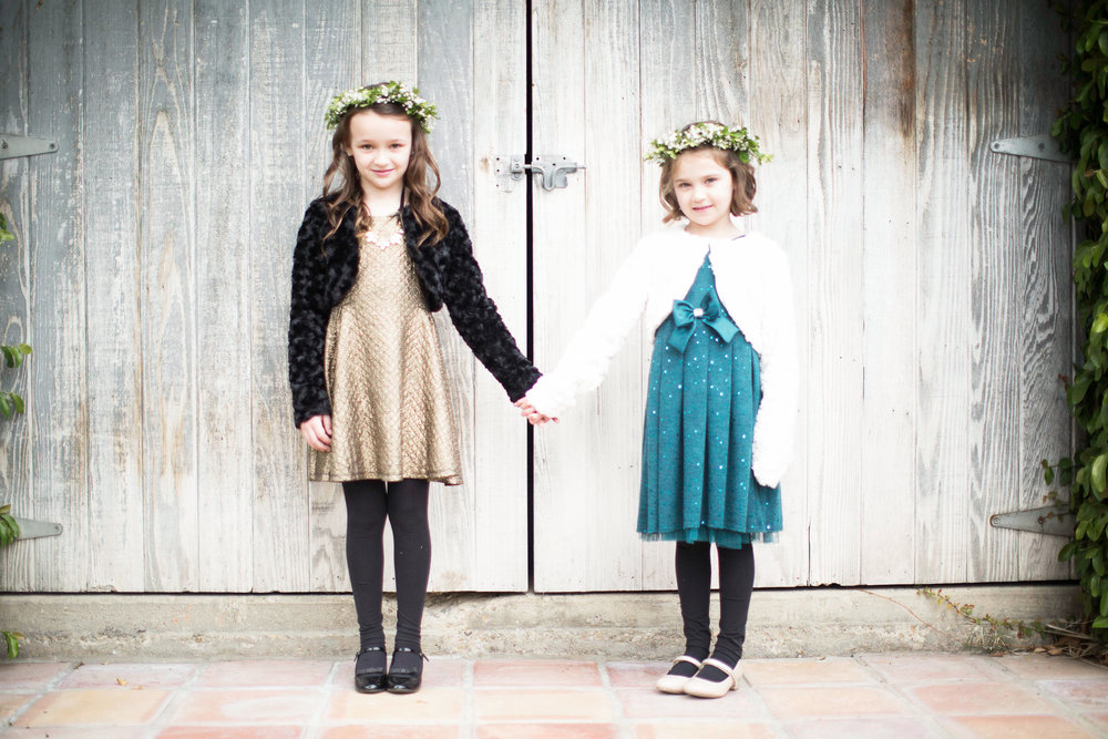 www.santabarbarawedding.com | Villa Verano | Clarissa Koenig Photography | Felici Events | Flower Girls