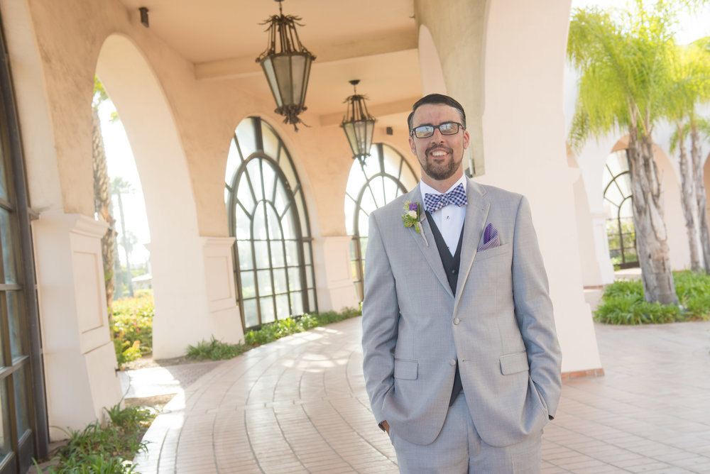 www.santabarbarawedding.com | By Cherry Photography | Chase Palm Park | Groom
