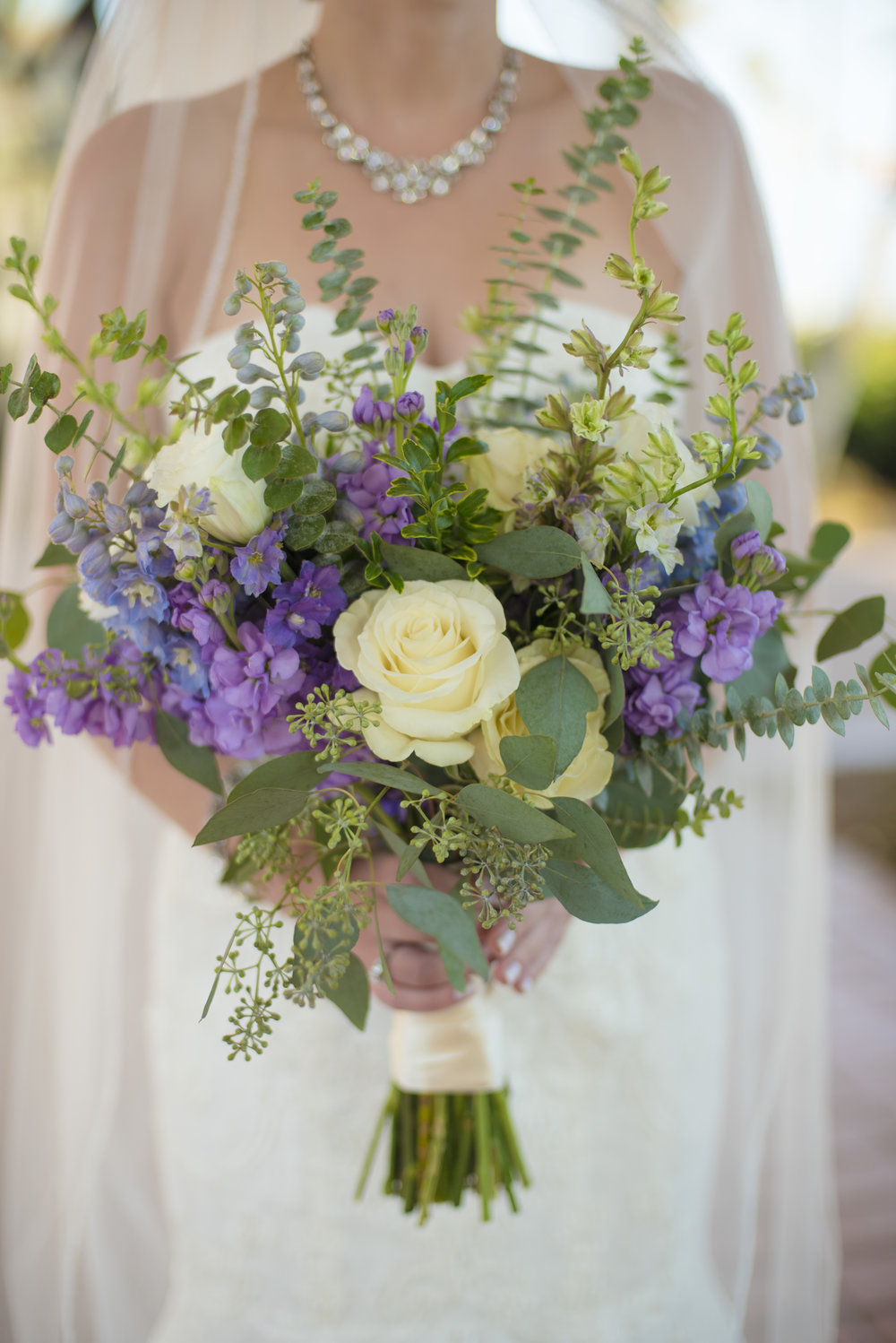 www.santabarbarawedding.com | By Cherry Photography | Chase Palm Park | Bridal Bouquet