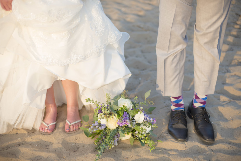 www.santabarbarawedding.com | By Cherry Photography | Chase Palm Park | Bride and Groom Shoes