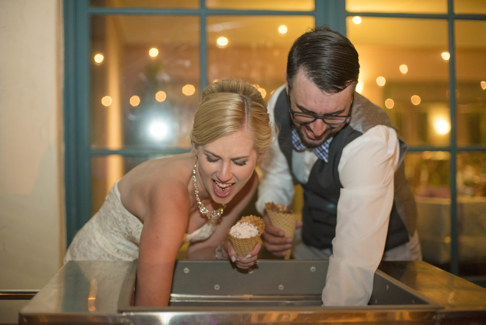 www.santabarbarawedding.com | By Cherry Photography | Chase Palm Park | Ice Cream Dessert