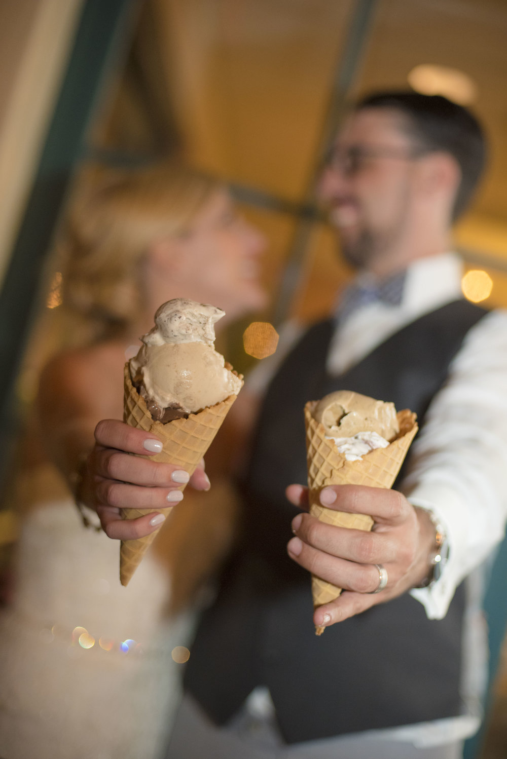 www.santabarbarawedding.com | By Cherry Photography | Chase Palm Park | Bride and Groom | Ice Cream