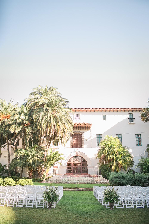 www.santabarbarawedding.com | Kelsey Crews | Felici Events | Santa Barbara Club | Ceremony