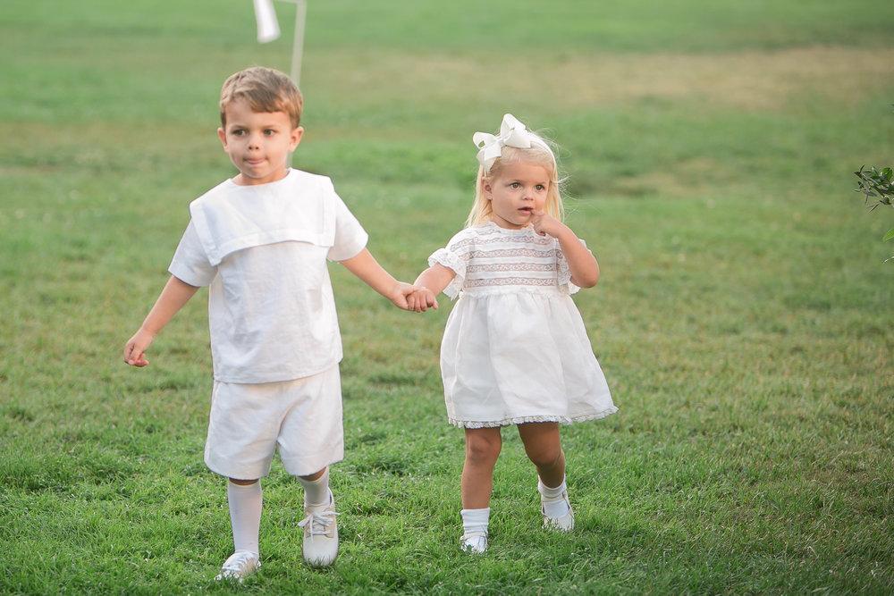 www.santabarbarawedding.com | Kelsey Crews | Felici Events | Santa Barbara Club | Ring Bearer and Flower Girl