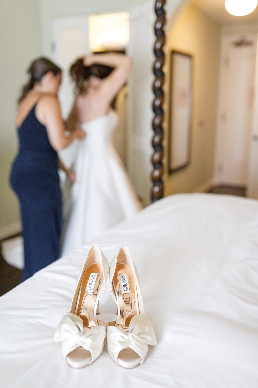 www.santabarbarawedding.com | Kiel Rucker | Canary Hotel | Bride's Shoes