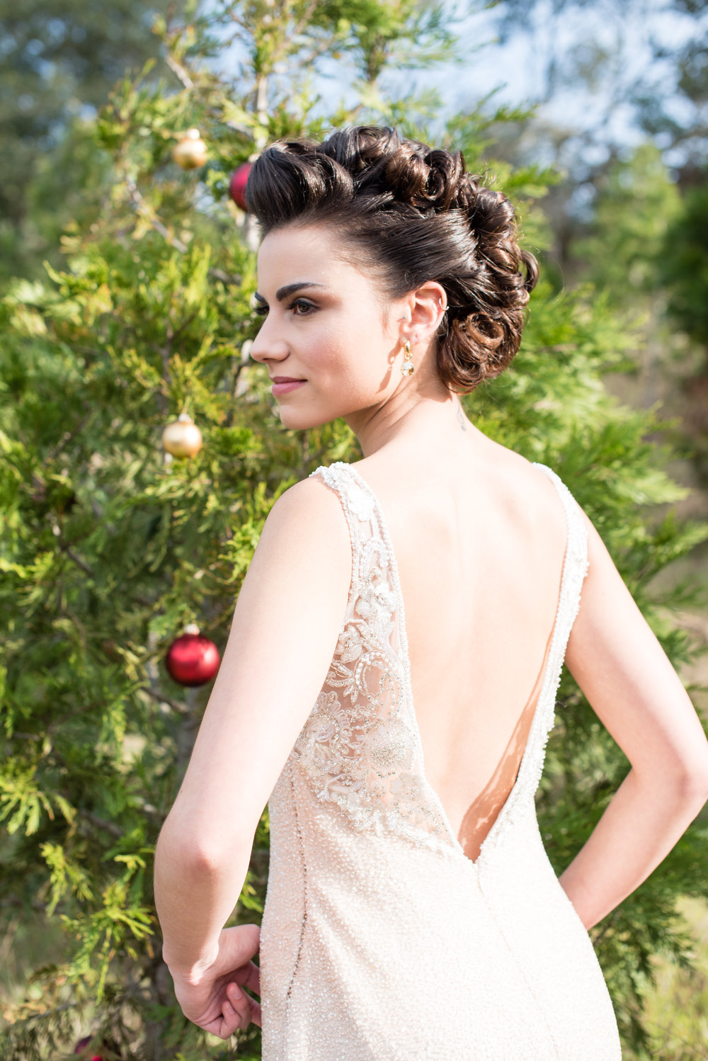 www.santabarbarawedding.com | Carrie Pollard | Church's Christmas Trees | Bride